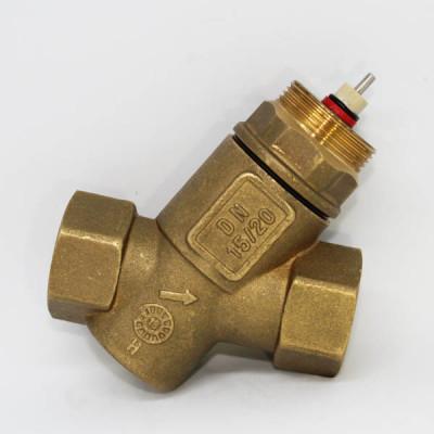 Комбинированный балансировочный клапан UniQ, Ду20 без измерительных ниппелей, FLOWCON