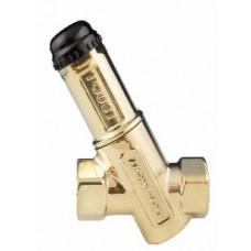 Термостатический балансировочный клапан T-JUST Ду15мм, без измерительных ниппелей, корпус латунь.